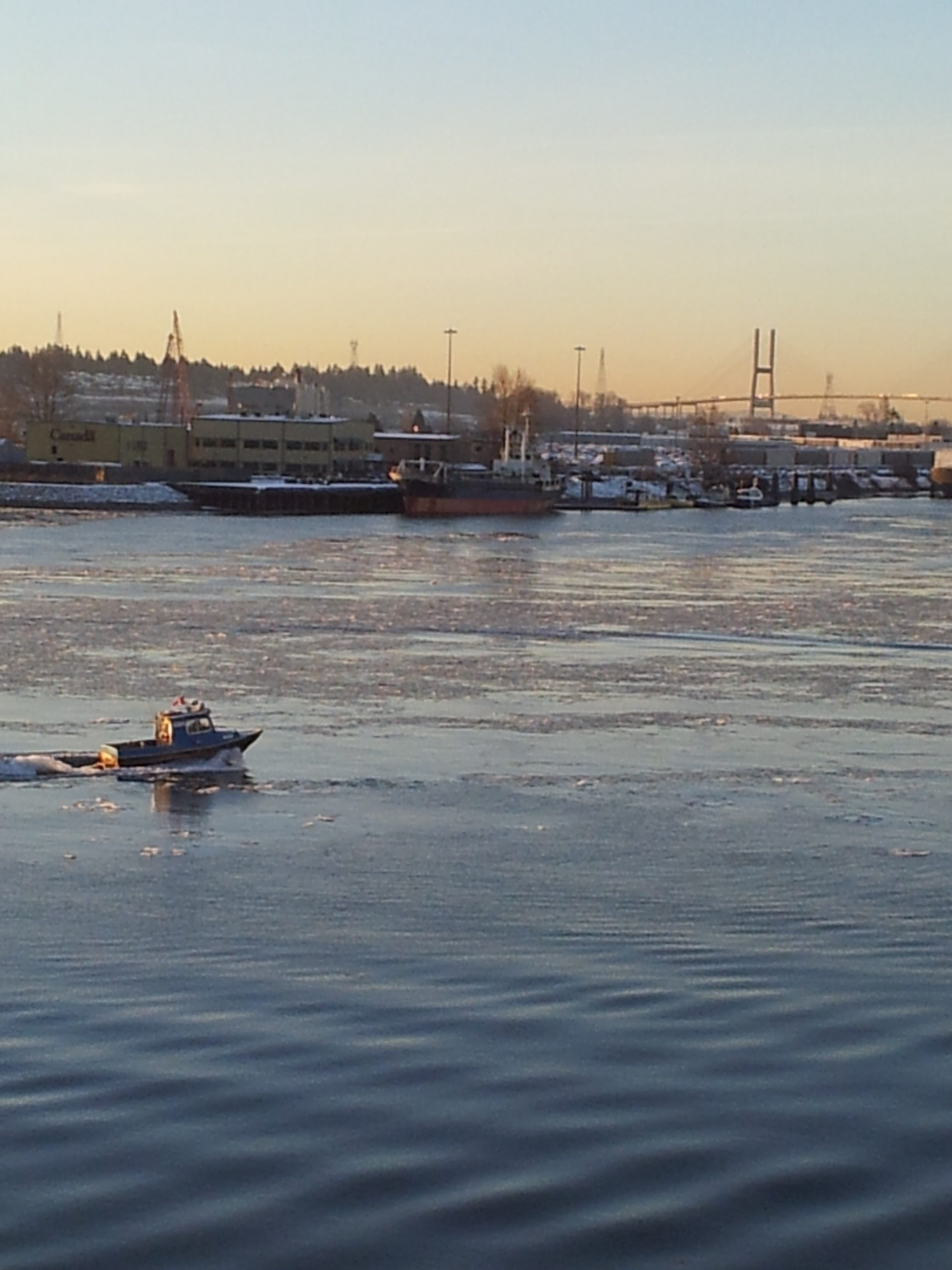 Ice Flows On The Fraser River [Photo: Crosty]