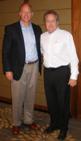 L to R: Wyoming Govenor Mead with QCB President James Crosty